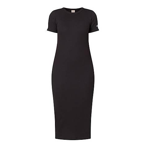 Ribbed Midi Dress, ${color}