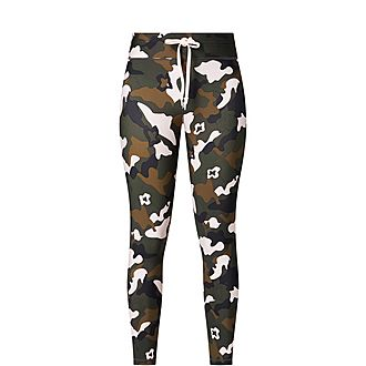 Forest Camouflage Midi Leggings