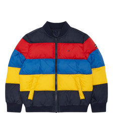 Reversible Colour-Block Puffer Jacket