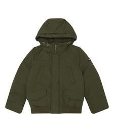 Logo Hooded Bomber Jacket