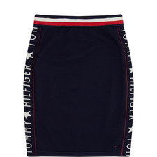 Logo Knitted Skirt