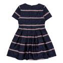 Satin Stripe Dress, ${color}