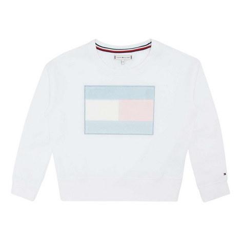 Faux Fur Flag Sweatshirt, ${color}