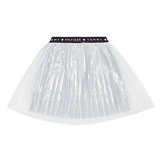 Tulle Mesh Pleated Skirt