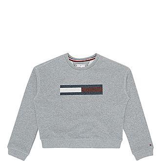 Lurex Flag Sweatshirt