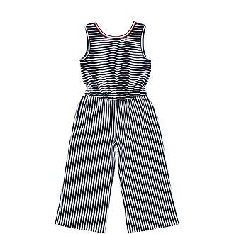 Stripe Knit Jumpsuit