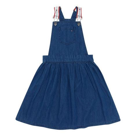 Pinafore Denim Dress, ${color}