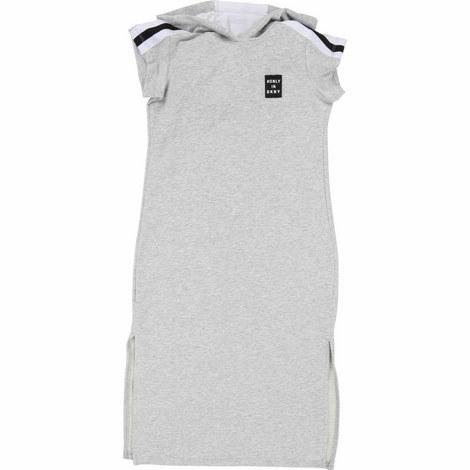 Short Sleeve Hooded Jersey Dress, ${color}