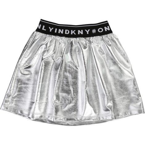 Logo Band Metallic Skirt, ${color}