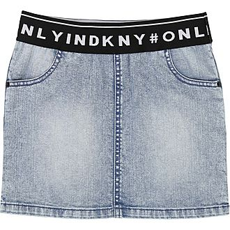 Logo Band Denim Skirt