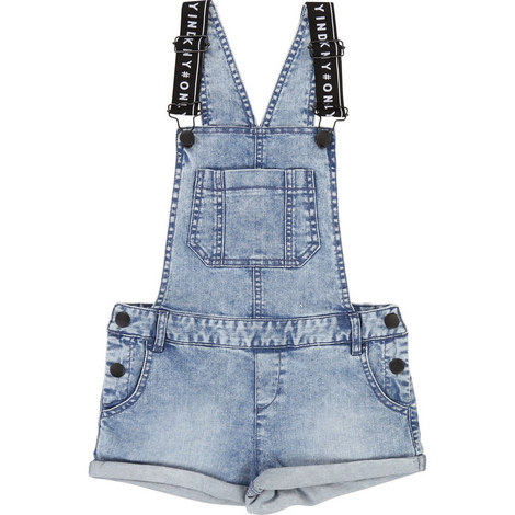 Denim Dungaree Shorts, ${color}