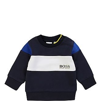 Striped Crew Sweatshirt