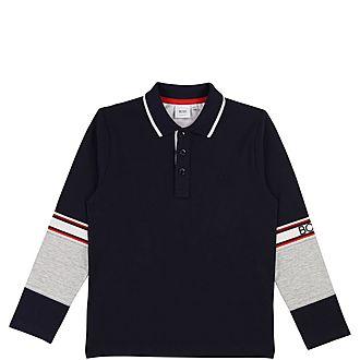 Contrast Sleeve Polo Shirt