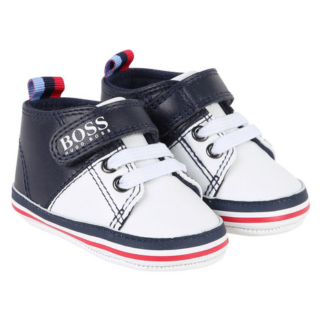 Logo Velcro Trainers Baby, ${color}