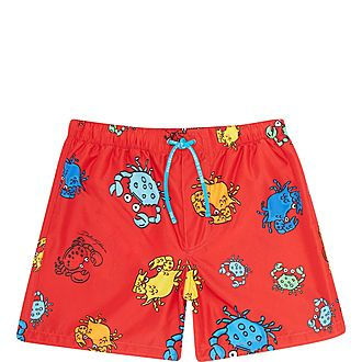 Crab Print Swimming Shorts