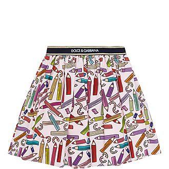 Girls Pencil Pattern Skirt