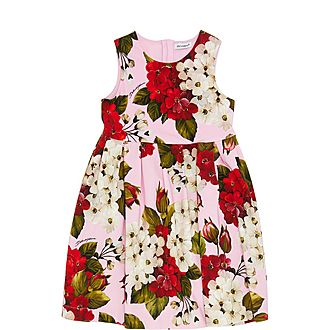 Tropical Rose Print Dress