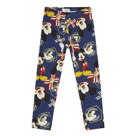 Mickey Mouse Print Leggings, ${color}