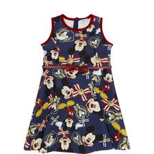 Mickey Mouse Print Dress