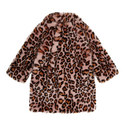 Leopard Print Faux Fur Coat, ${color}