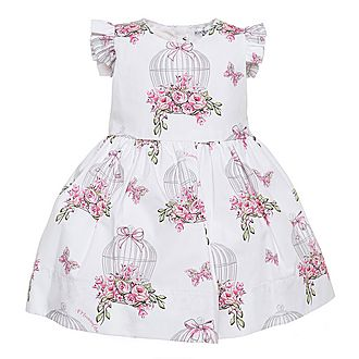 Rose Birdcage Print Dress Baby