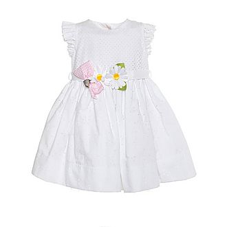 Laser Cut Belted Daisy Dress Baby
