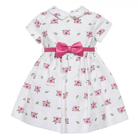 Rose Print Belted Dress Baby, ${color}