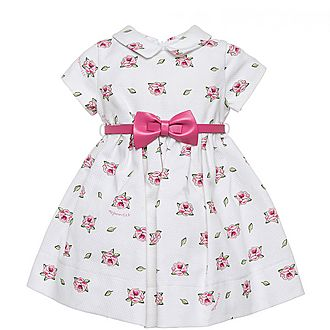 Rose Print Belted Dress Baby