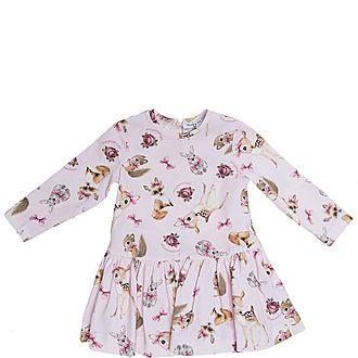 All-Over Bambi Print Dress