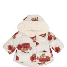 Rose Print Puffa Jacket Baby