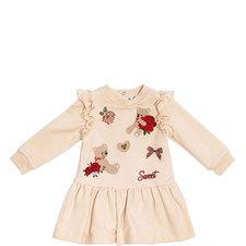 Embroidered Rose & Teddy Dress Baby