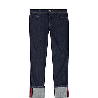 Web Striped Denim Jeans