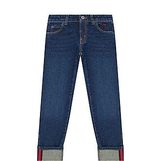 Web Striped Cotton Jeans