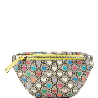 Heart Print Belt Bag