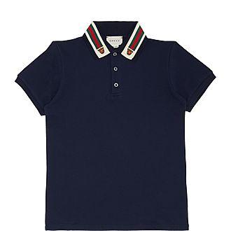 Webbing Stripe Cotton Polo Shirt