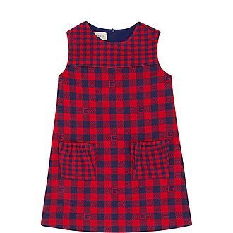 Logo Check Sleeveless Dress