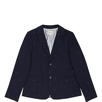 Anchor Logo Cotton Blazer
