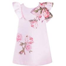 Rose Print Bow Dress