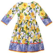 Flower Long Sleeve Dress