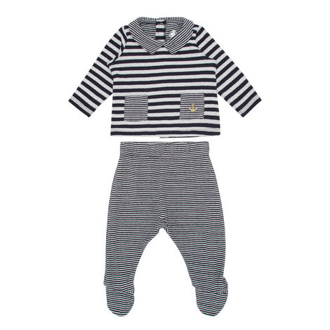 Striped Two-Piece Romper Suit Baby, ${color}
