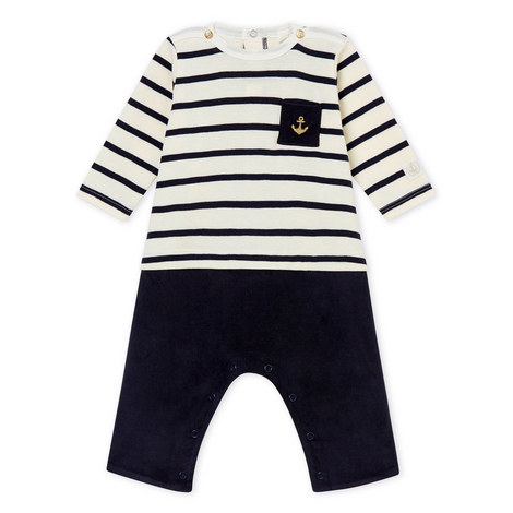 Two-Piece Stripe Rompersuit Baby, ${color}