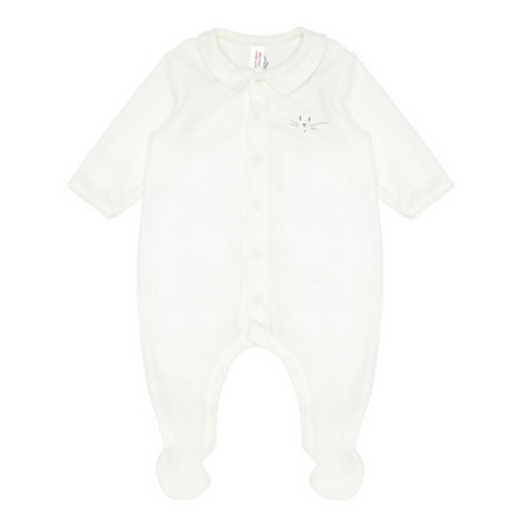 Velour Rompersuit Baby, ${color}
