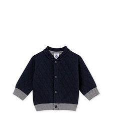 Quilted Bomber Cardigan Baby