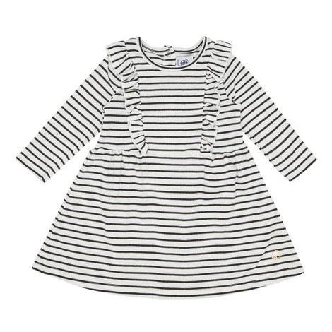 Stripe Print Dress Baby, ${color}