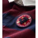 Stripe Long Sleeve Polo Shirt Baby, ${color}