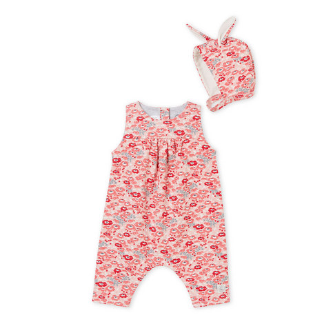 Floral Rompersuit & Hat Set Baby, ${color}