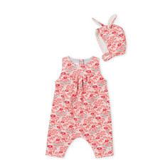 Floral Rompersuit & Hat Set Baby