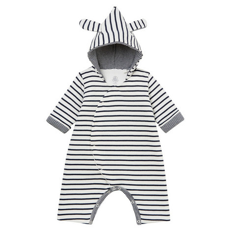 Backy Stripe Hooded Romper Baby, ${color}