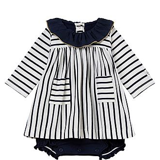 Babar Stripe Dress Baby