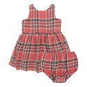 Plaid Fit-and-Flare Dress Baby, ${color}